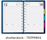 notebook design with calendar | Shutterstock .eps vector #70599841