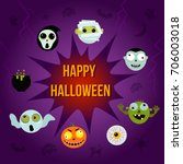 banner on a halloween holiday... | Shutterstock .eps vector #706003018