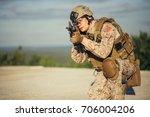 us marines in the desert near