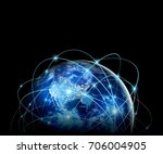 earth from space. best internet ... | Shutterstock . vector #706004905