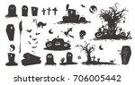 happy halloween magic... | Shutterstock .eps vector #706005442