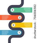 infographic template. four...   Shutterstock .eps vector #706006582