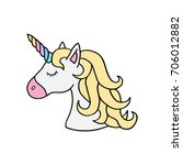 unicorn vector illustration... | Shutterstock .eps vector #706012882