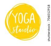 vector illustration for an yoga ... | Shutterstock .eps vector #706012918