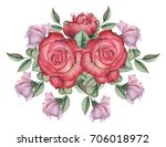 hand painted watercolor... | Shutterstock . vector #706018972