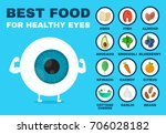 best food for healthy eye.... | Shutterstock . vector #706028182