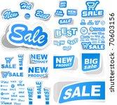 vector set of sale design...   Shutterstock .eps vector #70603156