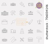 building line icons set | Shutterstock .eps vector #706034146