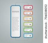 vector infographic template for ... | Shutterstock .eps vector #706038052