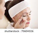 Tweezing Eyebrow By Beautician. ...