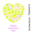 happy valentine's day greeting... | Shutterstock .eps vector #70604674