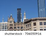 group of midtown buildings from ... | Shutterstock . vector #706050916