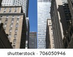 group of midtown high rise... | Shutterstock . vector #706050946