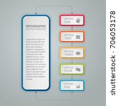 vector infographic template for ... | Shutterstock .eps vector #706053178