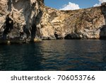 blue grotto caves and cliffs... | Shutterstock . vector #706053766