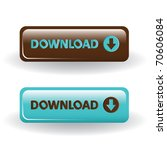 download buttons   brown and... | Shutterstock .eps vector #70606084