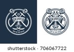 template marine emblem with... | Shutterstock .eps vector #706067722