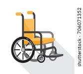 wheelchair for disabled people  ... | Shutterstock .eps vector #706071352
