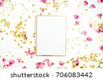 photo frame mock up with space... | Shutterstock . vector #706083442
