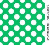 a seamless teal green polka dot ... | Shutterstock . vector #706083598
