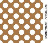 a seamless brown polka dot... | Shutterstock . vector #706083628