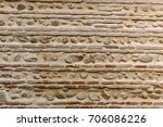 fences and walls of houses are... | Shutterstock . vector #706086226
