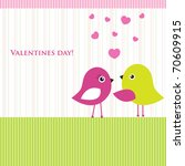 cute valentine s card with... | Shutterstock .eps vector #70609915