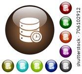 database timed events white... | Shutterstock .eps vector #706102912