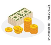 set a various kind of money.... | Shutterstock .eps vector #706104136