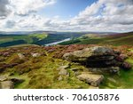 looking down over the ladybower ... | Shutterstock . vector #706105876