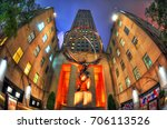 new york city  aug 8 the front... | Shutterstock . vector #706113526
