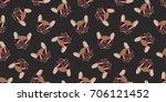 dog french bulldog smile... | Shutterstock .eps vector #706121452