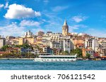 cityscape with galata tower and ... | Shutterstock . vector #706121542