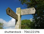 english country signpost... | Shutterstock . vector #706122196