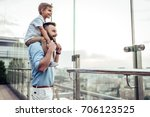 beautiful family is spending... | Shutterstock . vector #706123525