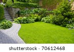 garden stone path with grass... | Shutterstock . vector #70612468