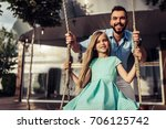 beautiful family is having fun... | Shutterstock . vector #706125742
