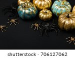Shiny Gold And Blue Pumpkins...