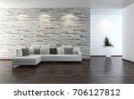 modern bright interiors. 3d...   Shutterstock . vector #706127812