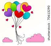 vector illustration of cute... | Shutterstock .eps vector #70613290
