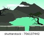 game background with east java... | Shutterstock .eps vector #706137442