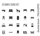 set of 20 editable furniture...