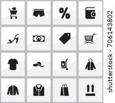 set of 16 editable shopping...
