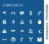 set of 20 editable sport icons. ...