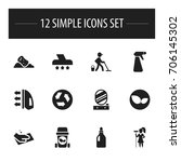 set of 12 editable cleaning...