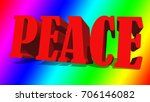 the word peace against a... | Shutterstock . vector #706146082