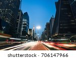night view of the famous... | Shutterstock . vector #706147966