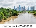 high and fast water rising in... | Shutterstock . vector #706152592