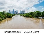 high and fast water rising in... | Shutterstock . vector #706152595