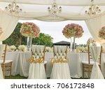 wedding set up. | Shutterstock . vector #706172848